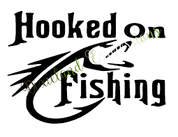 Hooked On Fishing Decal Fishing Outdoor Life Hooked Camping Hooked On Fishing Sticker Father Yeti Decal Laptop Decal Truck Decal