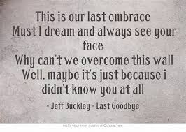 quotes about last goodbye quotes