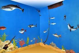 Under The Sea Theme Room Ocean Decor Kids Decorating Ideas Sea Theme Rooms Ocean Room Ocean Themed Bedroom