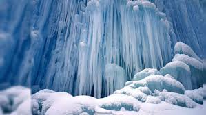 icicles ice waterfall winter snow