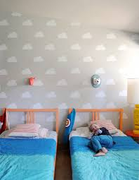 Cloud Kid S Room With Handmade Charlotte Stencils Handmade Charlotte