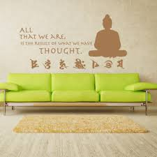 Shop Buddha Quote Vinyl Sticker Wall Decor Overstock 10808182