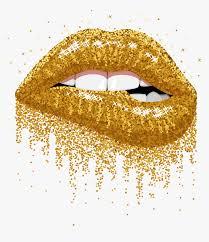 lips glitter gold golden sparkles