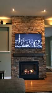 floor to ceiling stone fireplace diy