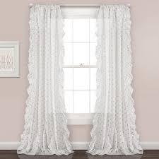 Ruffle Polka Dots Window Curtain Panel Set Lush Decor Www Lushdecor Com Lushdecor