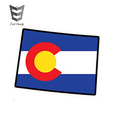 Earlfamily 13cm X 9 6cm Car Styling Colorado Flag Map Shape Printed Vinyl Decal Sticker Co Usa Car Sticker Waterproof Graphics Car Stickers Aliexpress