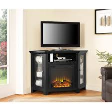 48 inch black corner tv stand with