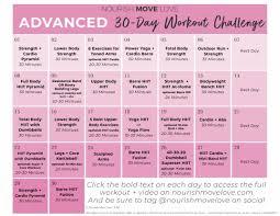 workout plan 30 day workout calendar