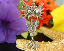 sterling silver owl bird articulated