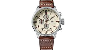 brown leather strap 1790684 for men lyst