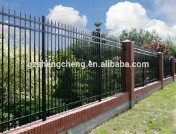 Spear Top Tubular Iron Ornaments Fencing Designs Boundary Wall Fence View Wrought Iron Fence Designs Shengcheng Product Details From Guangzhou Shengcheng Sieve Co Ltd On Alibaba Com