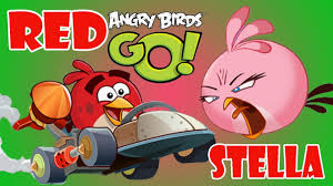 Angry Birds Go ♥Go Go Go RED & STELLA Racing- Who Will Win ...
