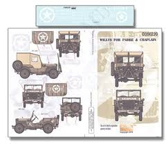 Wwii Usa Willys For Padre Chaplain Decal Hobbysearch Military Model Store