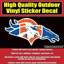 Denver Broncos Many Designs Sizes Car Window Vinyl Decal Sticker Collectibles Decals Stickers