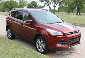 2013 2019 Ford Escape Stripes Center Hood Decals Capture Vinyl Graphic Auto Motor Stripes Decals Vinyl Graphics And 3m Striping Kits