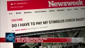 government back for your stimulus check
