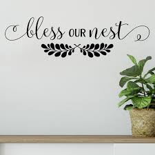 Red Barrel Studio Bless Our Nest Vinyl Wall Decal Wayfair