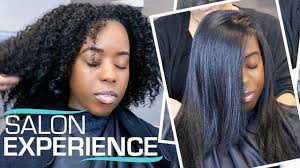 silk press on my natural hair for the