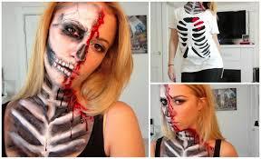 half skull halloween mask make up