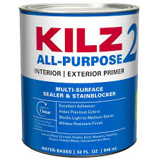 Kilz 2 Interior Exterior Multi Purpose Water Based Wall And Ceiling Primer Quart In The Primer Department At Lowes Com