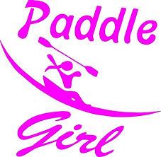 Amazon Com Paddle Like A Girl Kayaker Vinyl Decal Sticker Pink Kayak Kayaking Ocean Canoe 4 5 Inch Arts Crafts Sewing