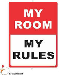 Room Decor Door Sign Man Cave Home Decor Kids Room My Room My Rules Ebay