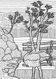 Tree Doodle Colouring Page Coloring Coloring Pages Tree