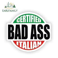 Earlfamily 12cm X 10 7cm Certified Bad Ass Italian Hard Hat Decal Helmet Sticker Label Italy Sicily Waterproof Car Sticker Car Stickers Aliexpress