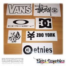 Vinyl Car Decal Sticker Pack Skater Skateboard Graphics Vans Volcom Stussy Ebay