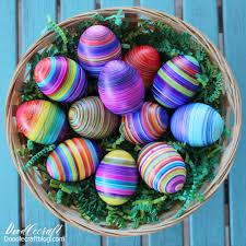eggmazing striped easter eggs diy