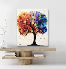 art tree of life wall art acrylic pour