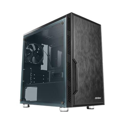 """Image result for DESCRIPTION Antec VSK10 Window mATX Case. 2x USB 3.0 Thermally Advanced Builder's Case. 1x 120mm Fan. Two Years Warranty  Superior Radiator Space Supports up to 280 mm radiator in the front without any obstacle  All-Dimension Airflow Path Air intakes in the front, on the right and left, and at the bottom ensures more airflow.  Case Specification Dimensions 405 x 208 x 400mm(DWH) Form Factor Micro Tower Materials SPCC + Plastic Mainboard Support Micro-ATX, ITX Front Access & Controls USB3.0 x 2, MIC / AUDIO(HD), Power, Reset Side Panel Transparent side panel Expansion & Drive Bays Expansion Slots 4 5.25"""" 0 3.5"""" /2.5"""" 2 2.5"""" 2 Cooling Support Front 2 x 140mm / 3 x 120mm Top 2 x 120mm / 2 x 140mm Rear 1 x 120mm Included Fan(s) 1 x 120mm regular fan in rear [Window version] 1 x 120mmWhite LED fan in Front & 1 x 120mm regular fan in rear [Window_AP Version] Radiator Support Front ≤ 280mm(Up to 55mm thickness with fan) Rear ≤ 120mm"""