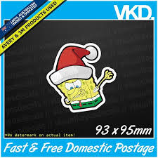 Christmas Spongebob Dabbing Sticker Decal Jdm Drift Car Dab Funny Meme Vinyl