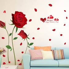 Kaimao Purple Flower In The Wind Wall Stickers Art Decal Murals Removable Wallpapers For Home Decoration