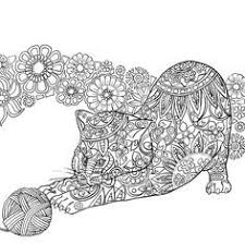 Cat Kitten Coloring Pages Colouring Adult Detailed Advanced