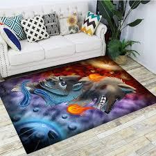 3d Animal Printed Carpets For Living Room Bedroom Area Rugs Kids Room Crawl Mats Crystal Fleece Child Play Carpe Wish