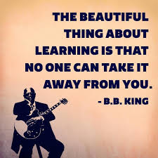 b b king and the beauty of learning by patrick r riccards