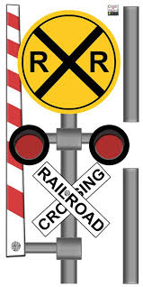 Rail Road Train Signal Wall Decal For Boys Room Walls