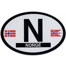 N Norway Oval Decal Car Decals Stationery Tomten Catalog