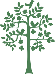 Simple Tree Silhouette Vector Clip Art Library