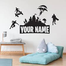 Customised Name Wall Sticker Vinyl Boys Gaming Room Kids Room Wall Decor Wall Decals For Gamer Room Decoration Accessories Wall Stickers Aliexpress