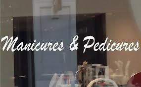 Manicures Pedicures Decal Nail Salon Vinyl Sticker Business Window Sign Spa Ebay