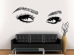 Amazon Com Eyelashes Decal Eyelashes Eye Wall Decal Eyelashes Eye Wall Sticker Girls Eyes Eyebrows Wall Decor Beauty Salon Decal Make Up Wall Decor Kau 402 Handmade