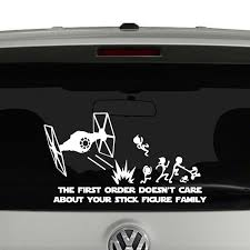 The First Order Doesn T Care About Your Stick Figure Family Vinyl Decal