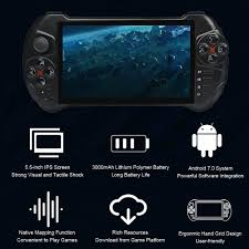 Máy Cầm Tay Chơi Game Powkiddy X15 Android Handheld Game Console WiFi Video  Game Player 5.5-inch Touch Screen MTK8163 Quad Core 2G RAM 32G ROM