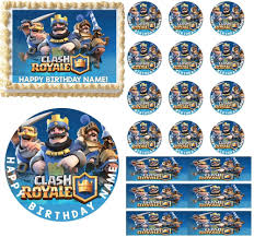 Clash Royale Edible Cake Topper Image Cupcakes Cake Decoration