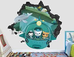 Amazon Com Octonauts Submarine Wall Decal Sticker Kids Wall Decal Decor Art 3d Vinyl Wall Decal Ah96 Medium Wide 30 X 28 Height Arts Crafts Sewing