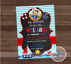 Invitaciones Mickey Mouse Marinero 2 Decoracion De Fiestas