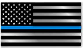 Thin Blue Line Flag Decal Car Truck Police Officer Window Blm Etsy