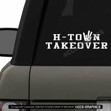 Oracal H Town Takeover Decal Uh Houston Cougars Football Car Window Sticker Ncaa 3 Size